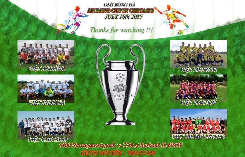 Lời cảm ơn của BTC Giải bóng đá ANBANG Cup Lần thứ 2