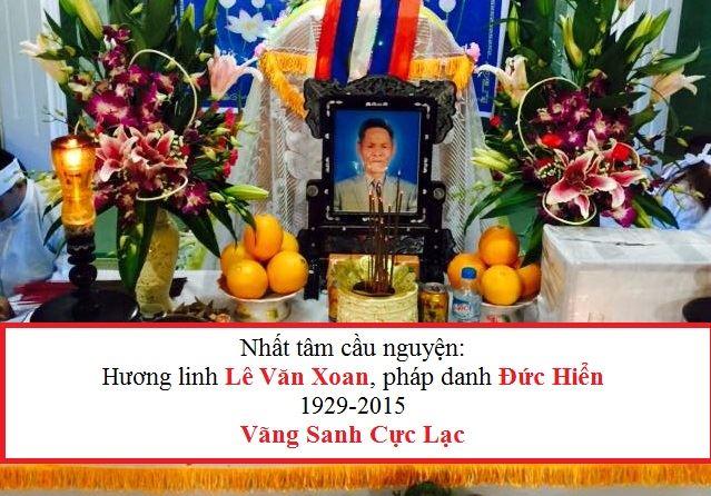 Ông Lê Văn Xoan qua đời