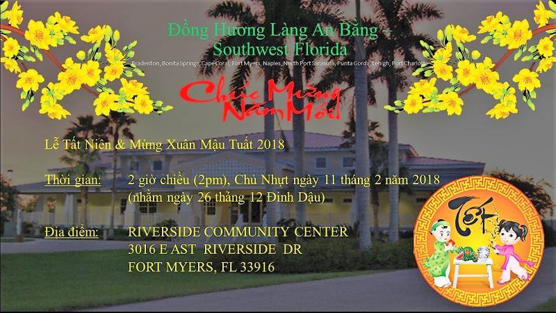 Thư Mời: Cộng Đồng Làng An Bằng Southwest Florida Tất Niên và Đón Xuân Mậu Tuất 2018