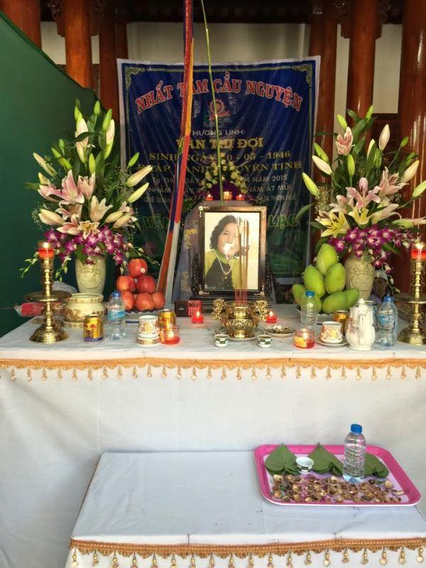 Linh cữu Mệ Văn Thị Đợi đưa về đất mẹ An Bằng