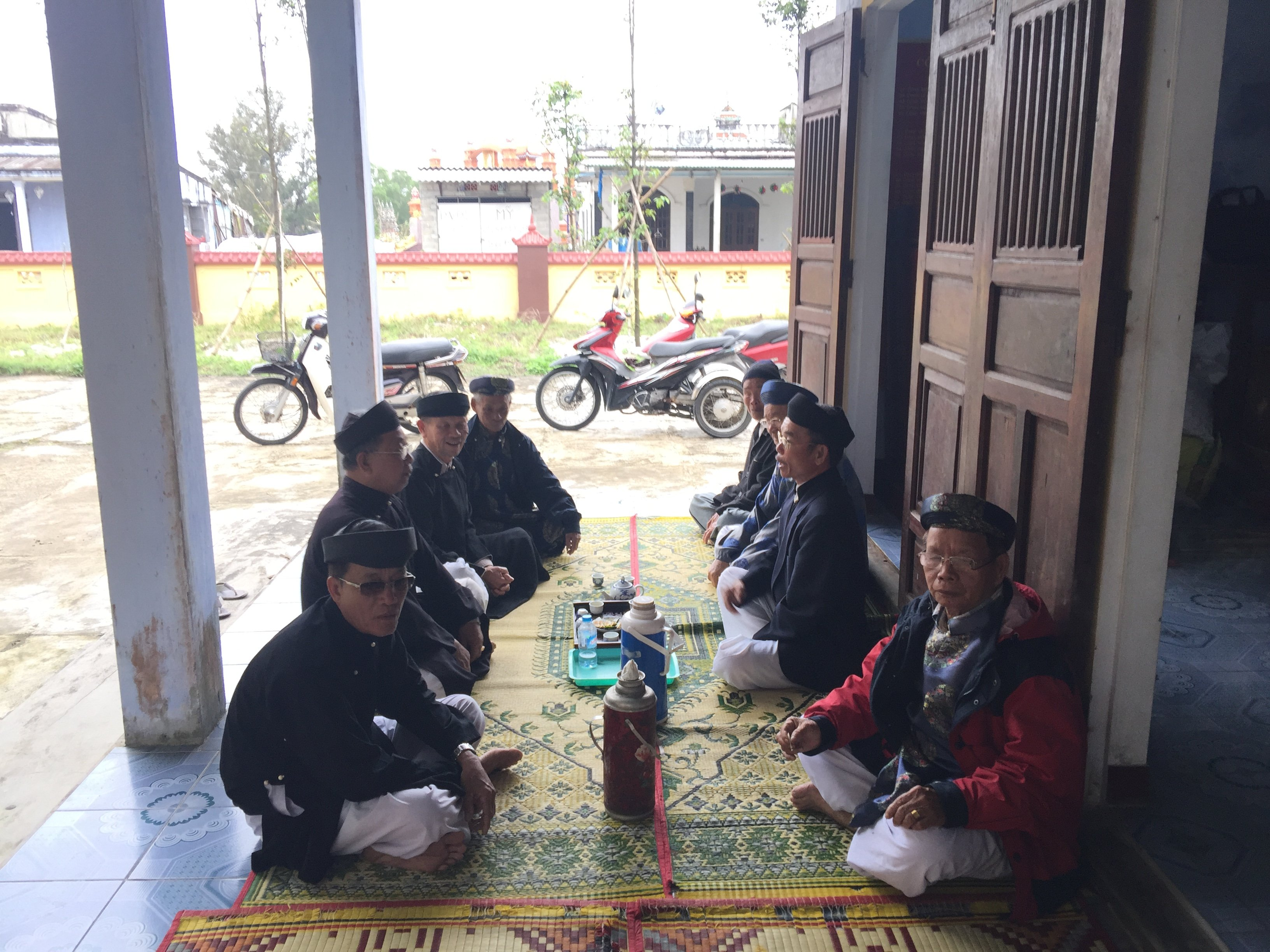 Hội đồng làng An Bằng họp đầu năm Mậu Tuất -2018