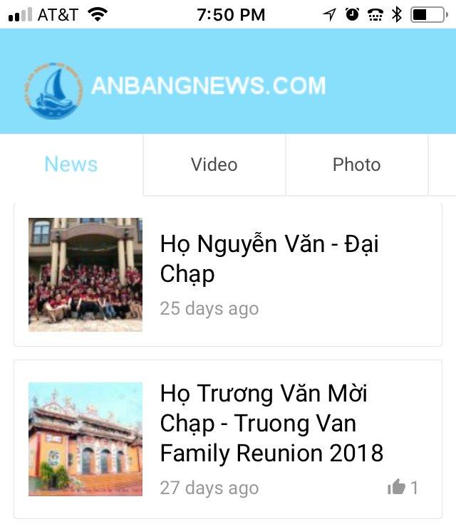 Tin Vui: anbangnews iOS app đã có trên Apple Store