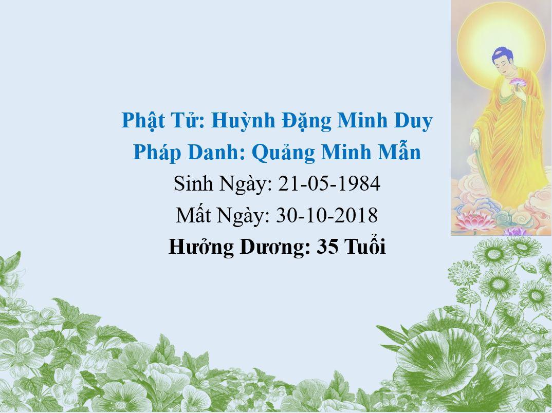 Anh Huỳnh Đặng Minh Duy Qua Đời