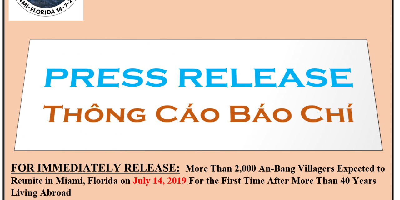 An Bang Villagers Abroad Conference Press Release