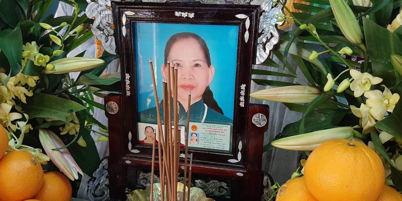 Bà Nguyễn Thị Gái Qua Đời