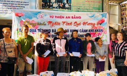 Nghĩa tình quê hương, trao quà cho bà con có hoàn cảnh khó khăn nhân dịp Tết Canh Tý -2020