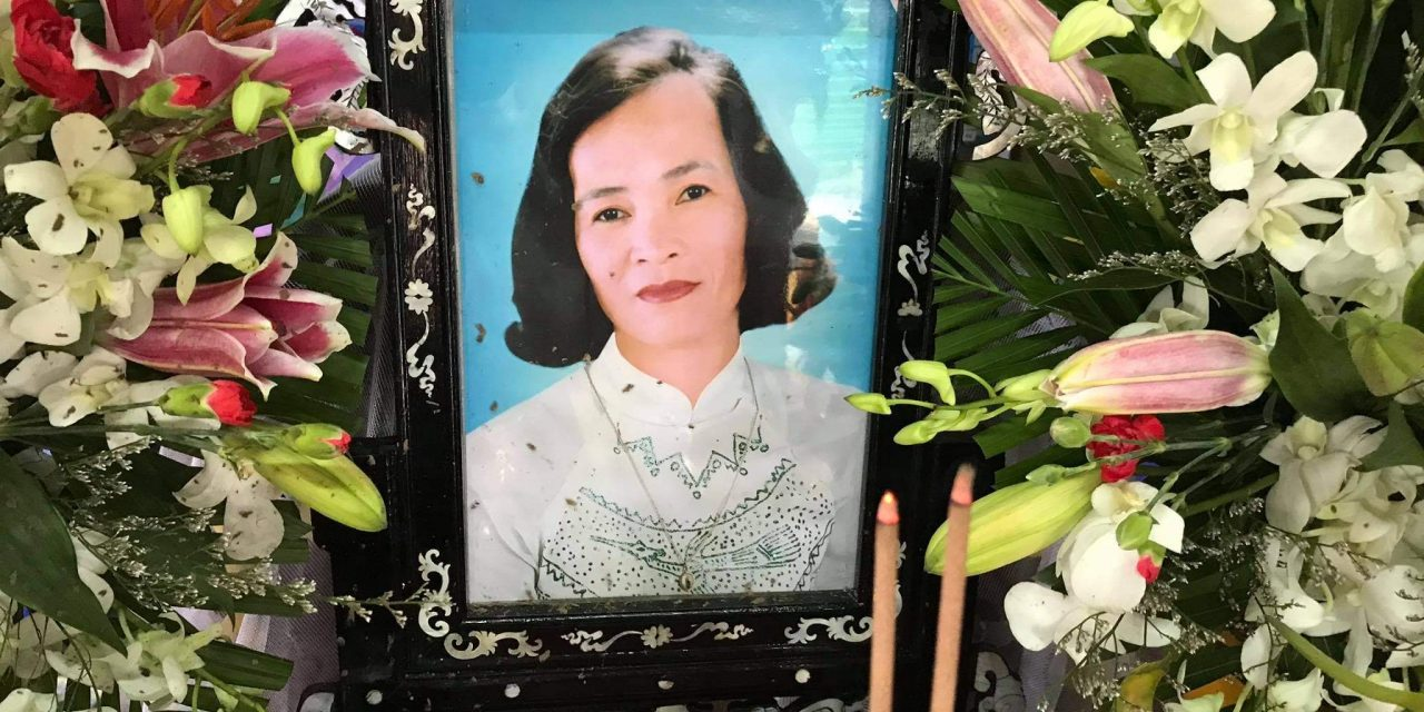 Mệ Trương Thị Hường qua đời