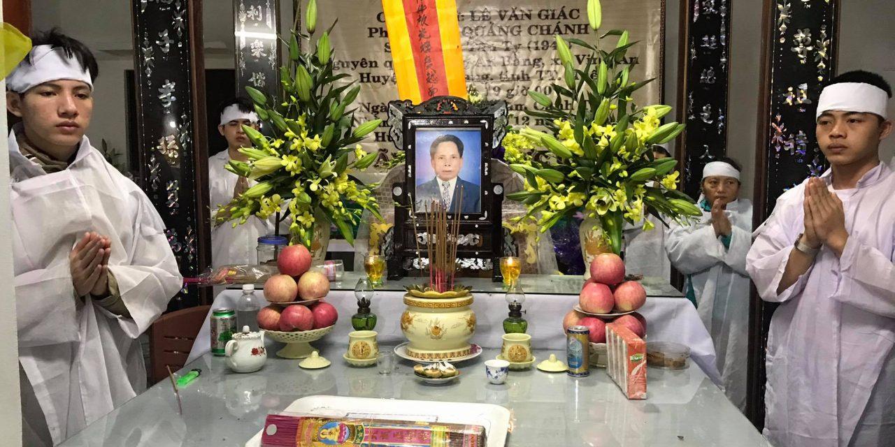 Ôn Lê Văn Giác, pd Quảng Chánh, Qua Đời