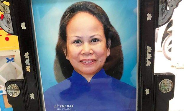 Bà Lê Thị Bay, pd Nguyên Phi, Qua Đời