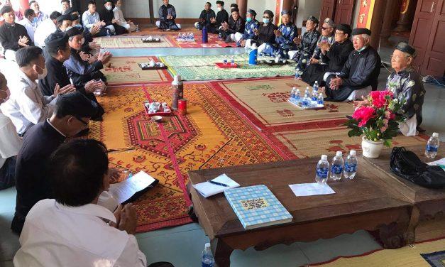 Hội đồng làng bàn giao ngôi chùa cổ An Đức Tự  cho KGHPG An Bằng quản lý và thờ tự