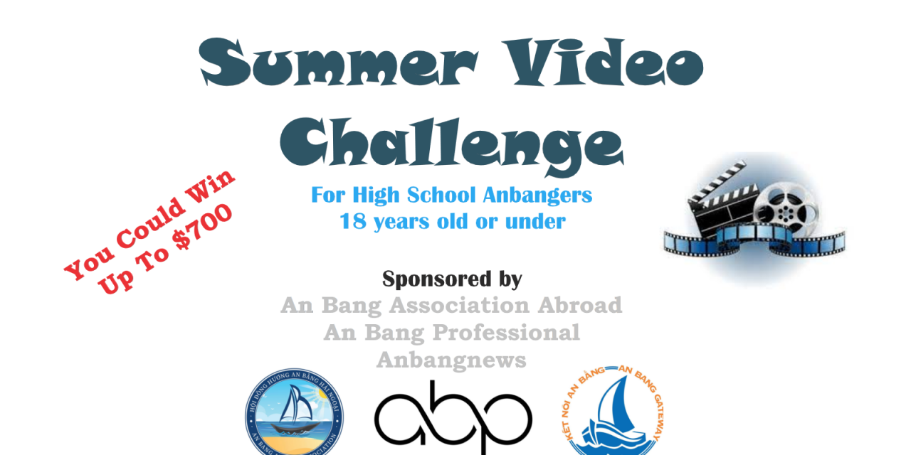 Summer Video Challenge For Young Anbangers