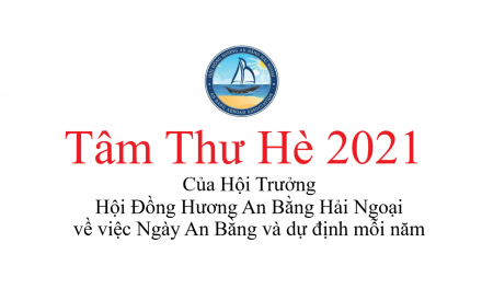 Tâm Thư Hè 2021
