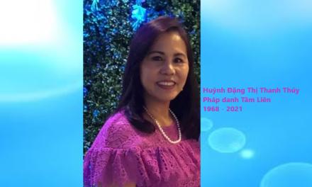 Bà Huỳnh Đặng Thị Thanh Thúy, pháp danh Tâm Liên, Qua Đời